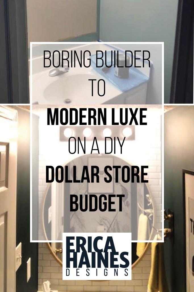 Pinterest header boring builder to modern luxe on a diy dollar store budget